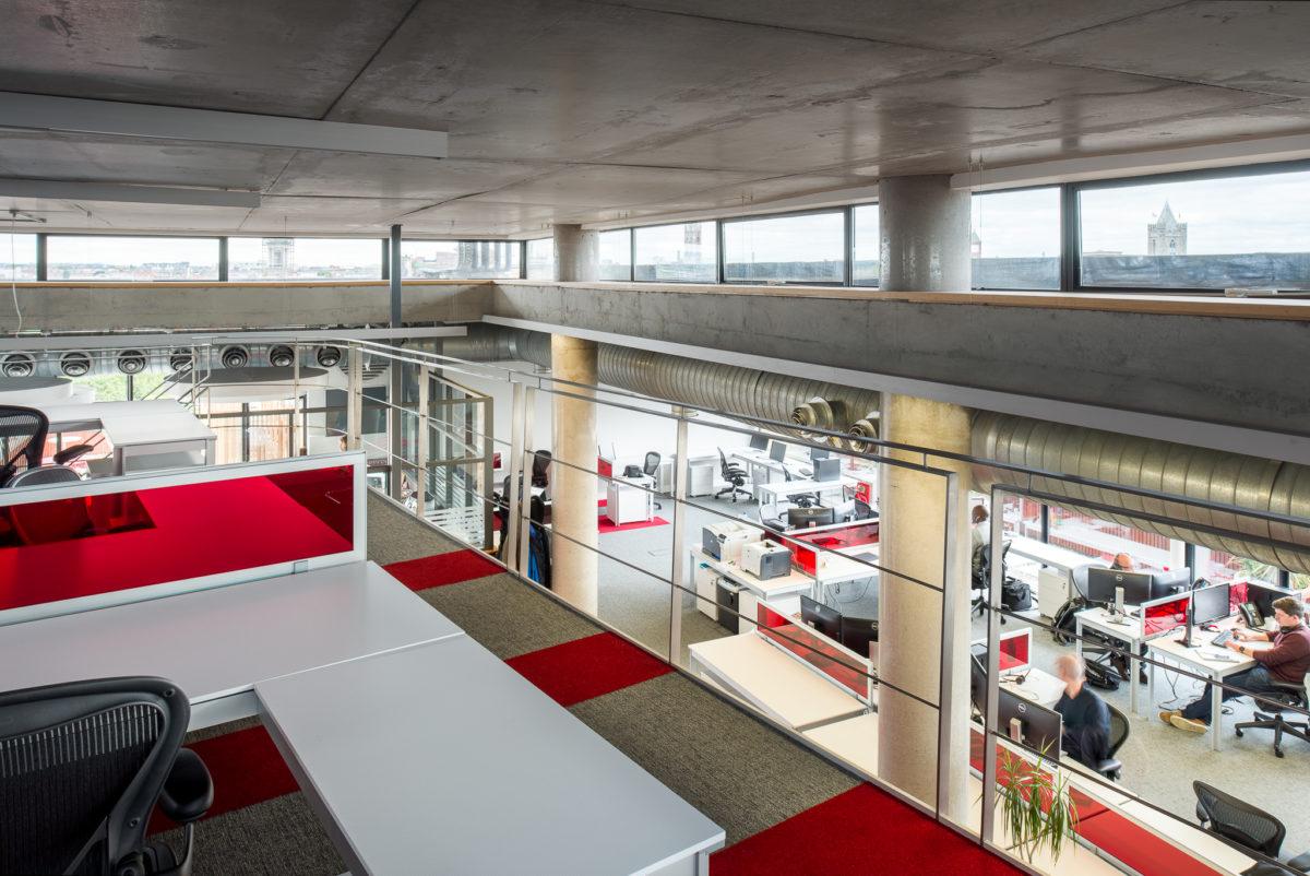 office mezzanine in corporate