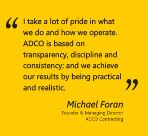 Michael Foran on ADCO Contracting